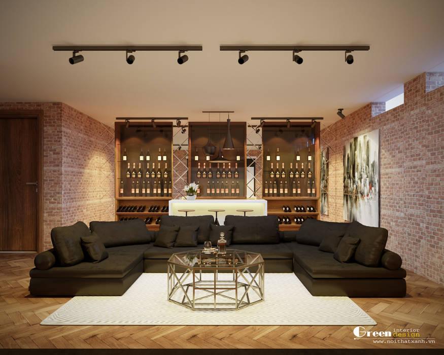 THIẾT KẾ BIỆT THỰ SÂN VƯỜN ECOPARK – THÁCH THỨC MỌI GIỚI HẠN Hầm rượu phong cách hiện đại bởi Green Interior Hiện đại