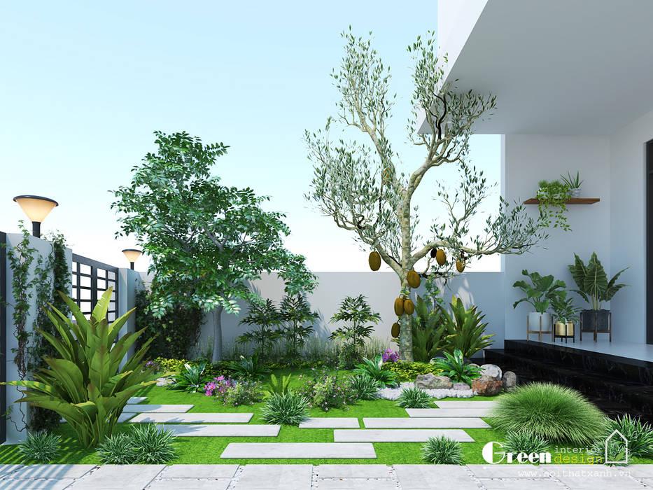 """""""BIỆT THỰ CUỐI TUẦN"""" VINHOMES THĂNG LONG:  Vườn by Green Interior,"""