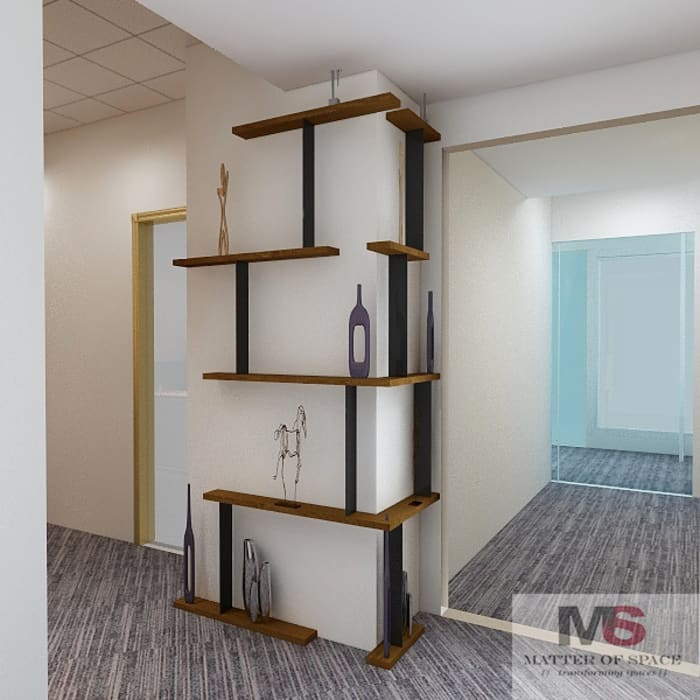 DISPLAY UNIT:  Office buildings by Matter Of Space Pvt. Ltd.,Modern Plywood