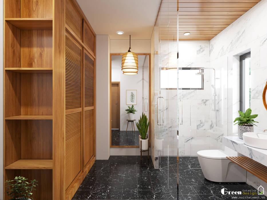 BIỆT THỰ VINHOMES THĂNG LONG : CÓ CĂN NHÀ NẰM NGHE NẮNG MƯA Phòng tắm phong cách hiện đại bởi Green Interior Hiện đại