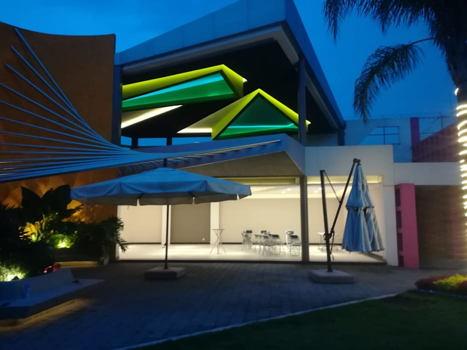 MROlmeda Balcon, Veranda & TerrasseEclairage Jaune