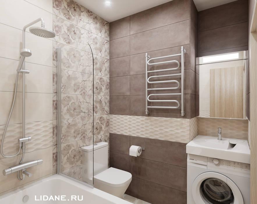 Двухкомнатная квартира 33 м.кв. Сочи, ул. Тимирязева.: Ванные комнаты в . Автор – Lidiya Goncharuk,