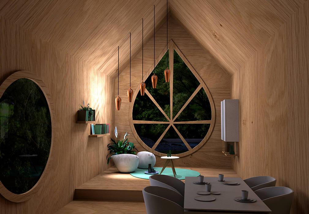 Gemütliche beleuchtung bei nacht im wohnbereich moderne ...