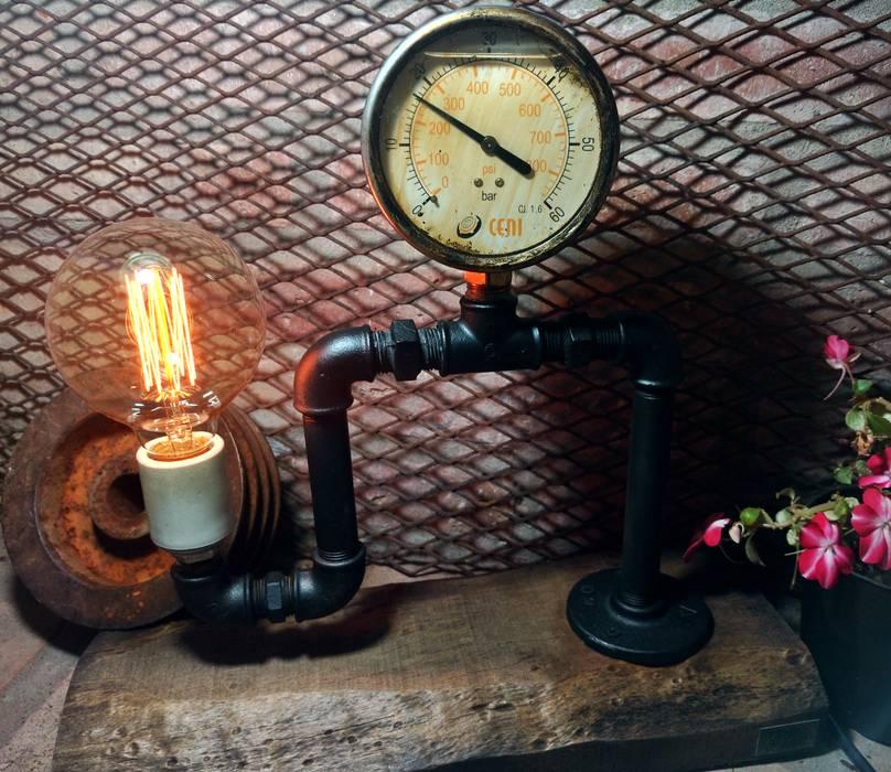 Lámpara de Diseño Argentina Deco Bares y Cervecerías Artesanales Lamparas Vintage Vieja Eddie Salas/RecibidoresIluminación Hierro/Acero Negro