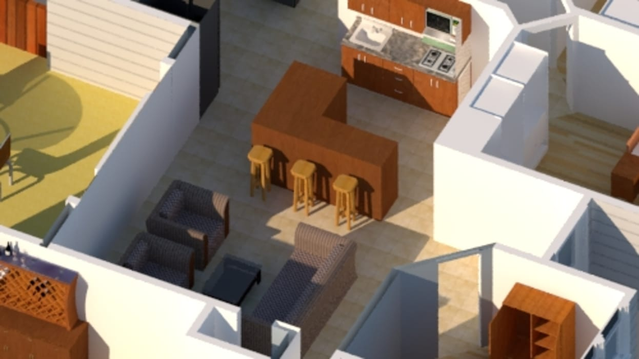 Vivienda estilo tradicional 1planta 196M2: Casas unifamiliares de estilo  por CEC Espinoza y Canales LTDA,