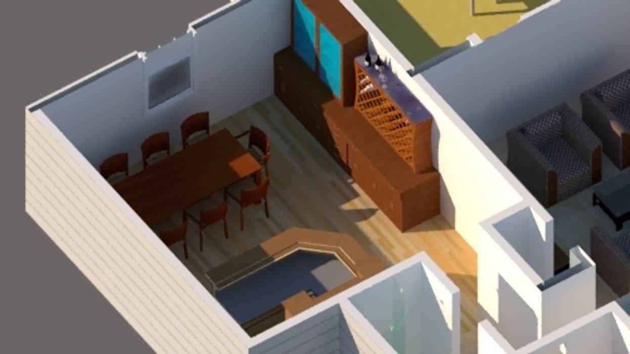Vivienda estilo tradicional 1planta 196M2: Casas unifamiliares de estilo  por CEC Espinoza y Canales LTDA, Moderno