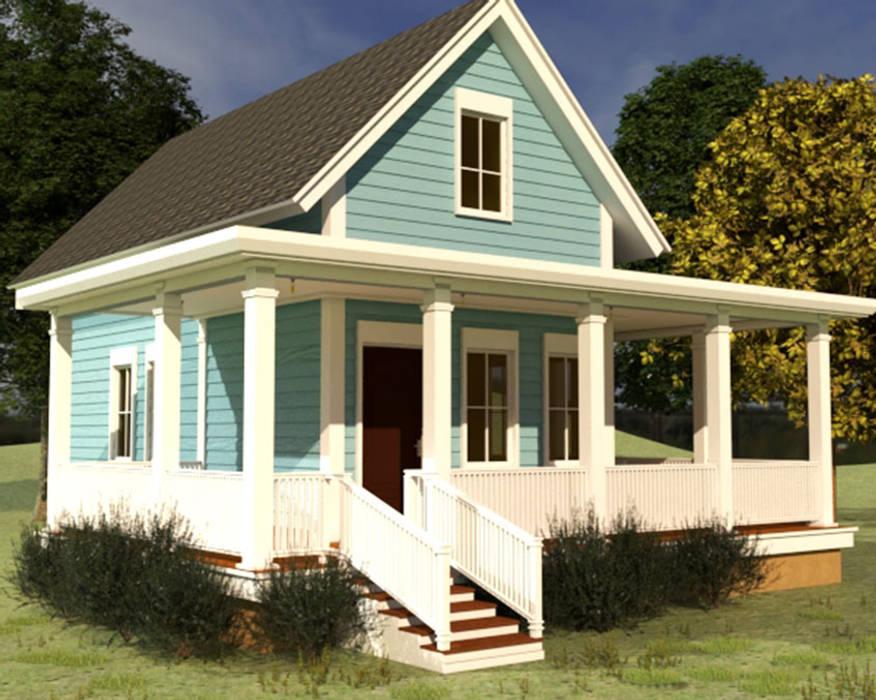 Casa de Campo estilo americano 91.4 M2: Casas de campo de estilo  por CEC Espinoza y Canales LTDA,