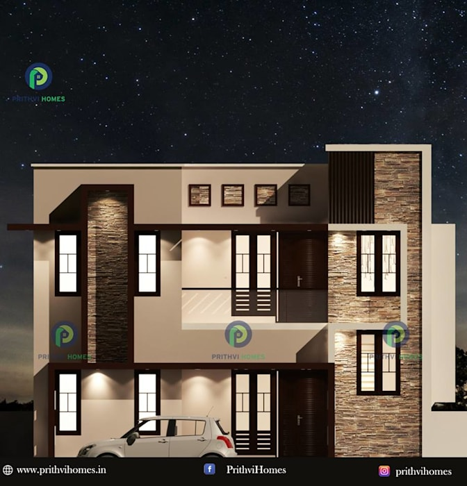 Top Architectures in Thrissur Prithvi Homes Balcony