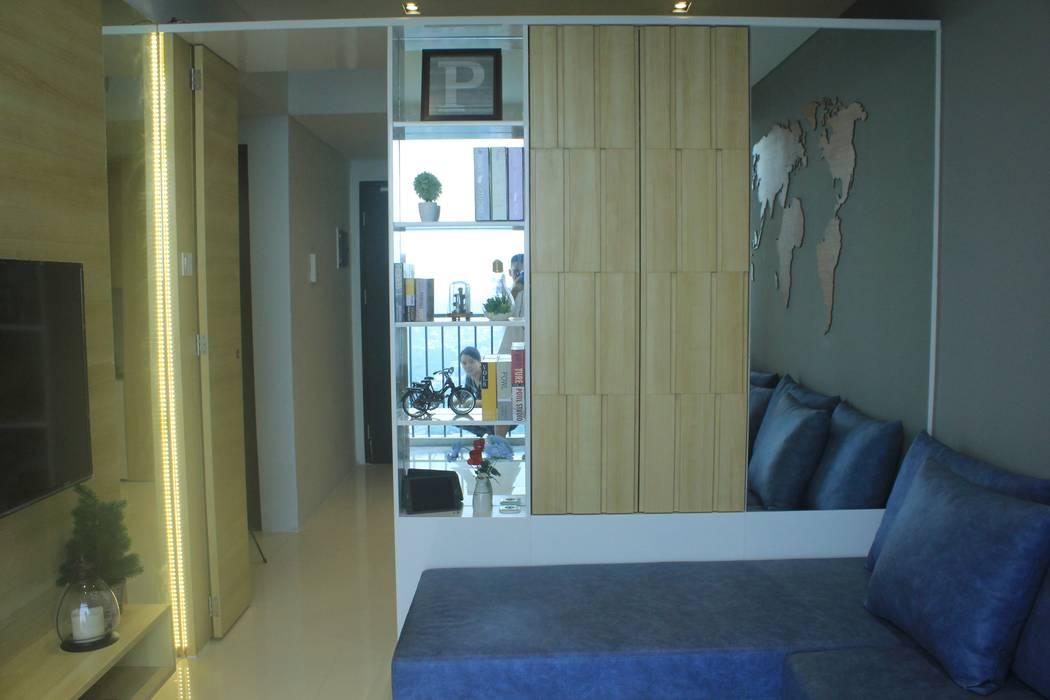 Lexington apartment Ruang Media Modern Oleh POWL Studio Modern