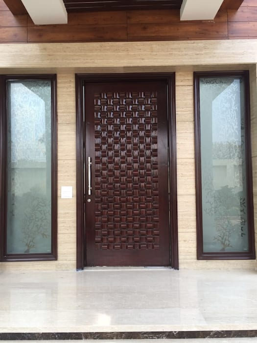 Main Entrance Modern style doors by Pheon Design Services (P) Ltd. Modern