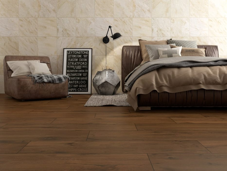 Interceramic MX Rustic style bedroom Ceramic Wood effect