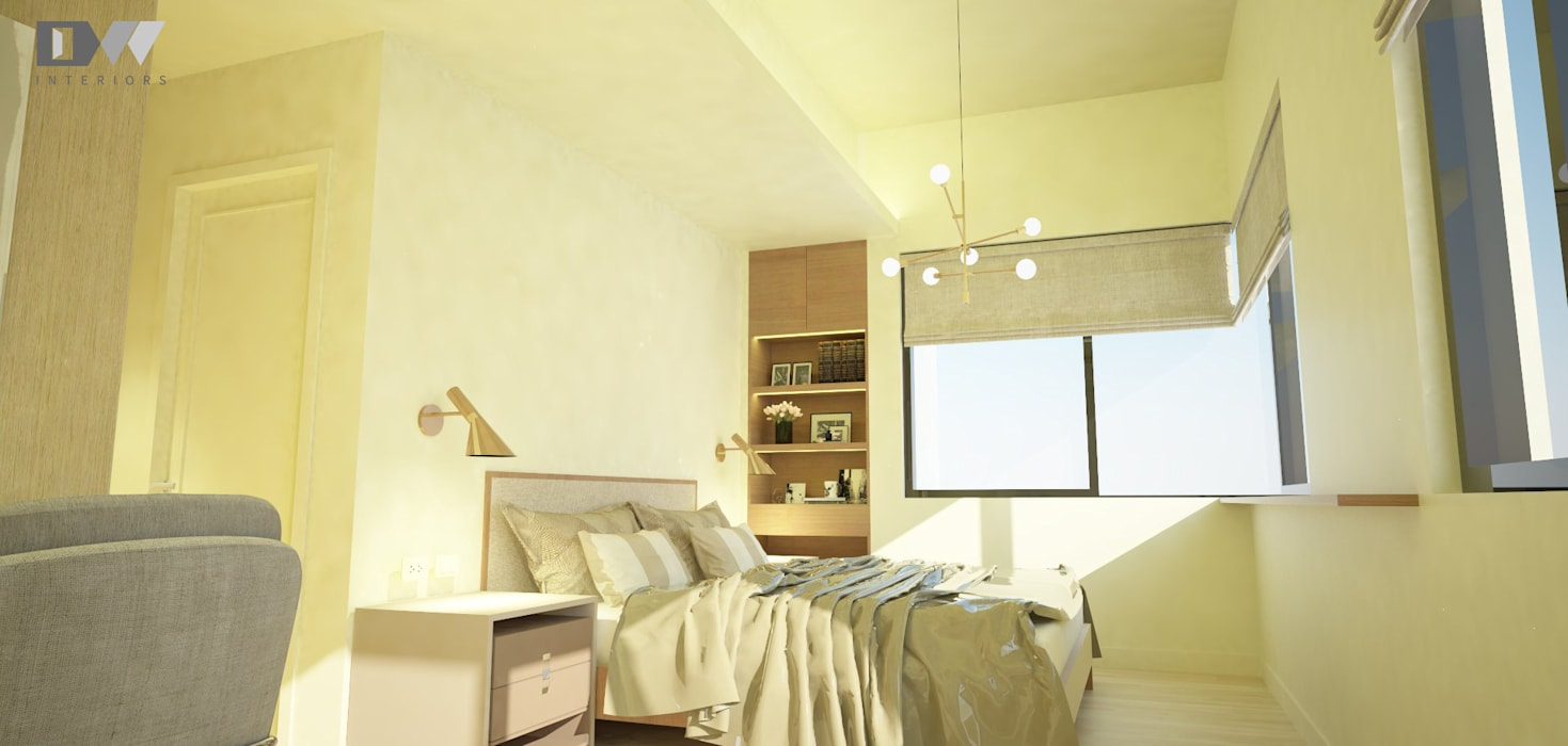 Masters bedroom:  Bedroom by DW Interiors, Minimalist