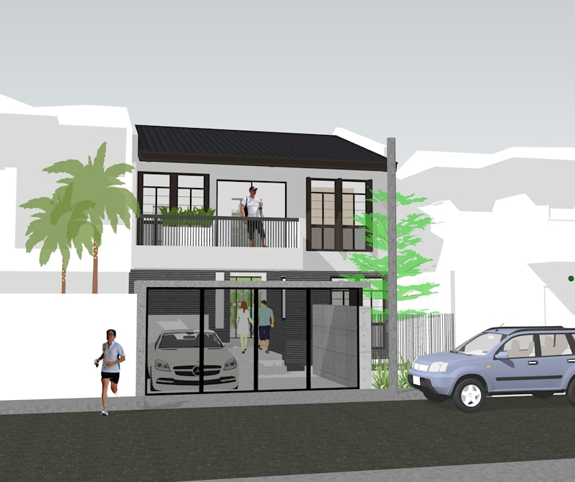 136 house:  Single family home by Roland Joseph Rosell, Architect, Modern