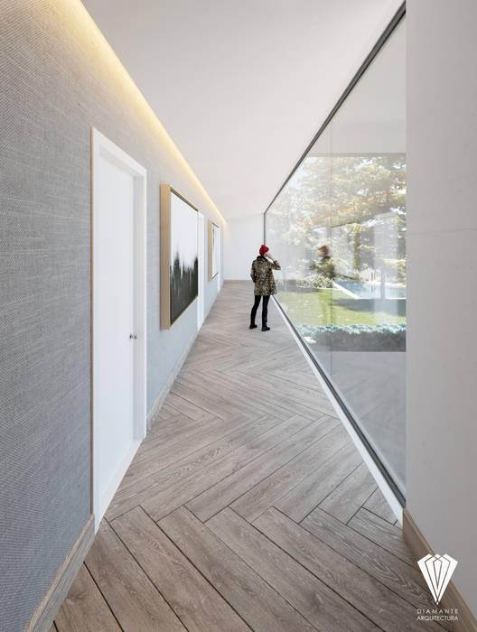 Pasillo Recámaras: Pasillos y recibidores de estilo  por Diamante Arquitectura