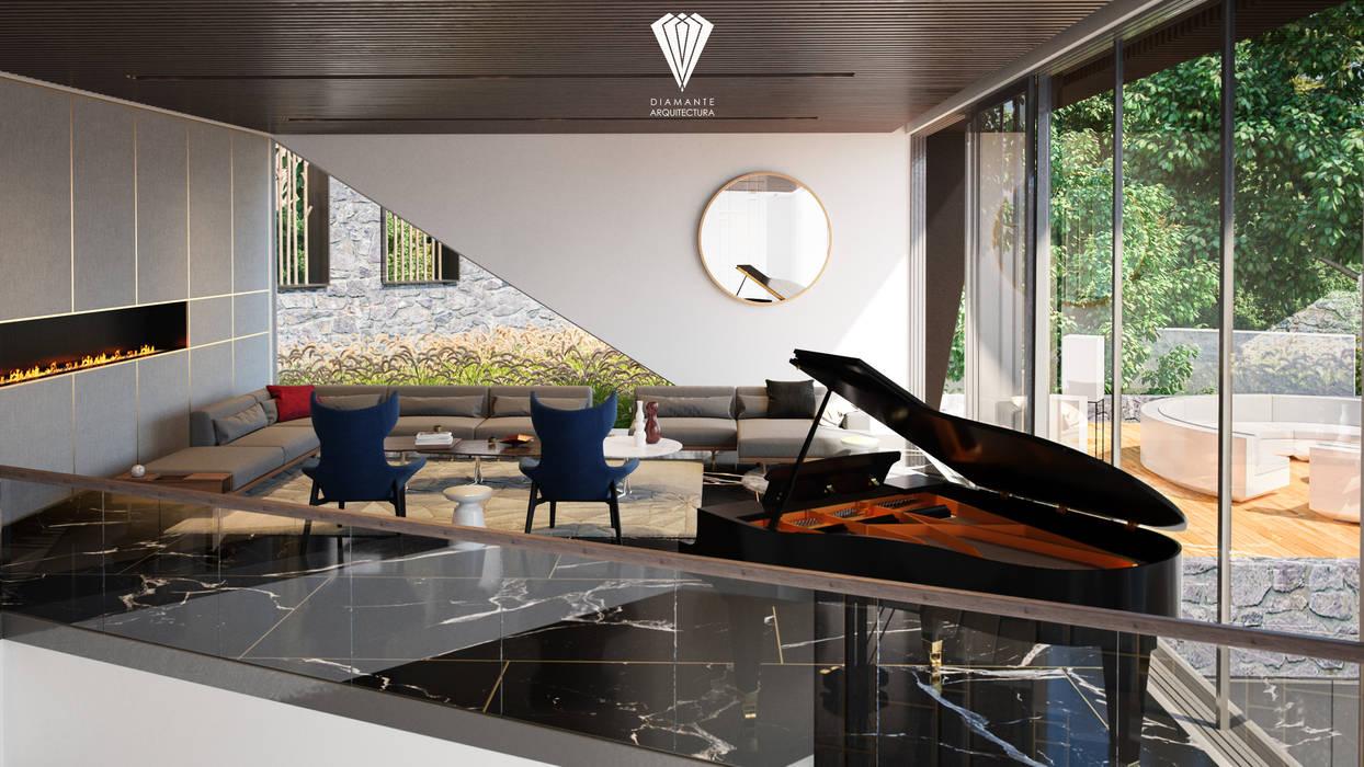 Sala de estar : Salas de estilo  por Diamante Arquitectura