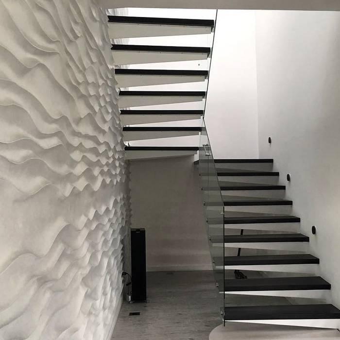 Casa CR6: Escaleras de estilo  por O+C674 Arquitectos