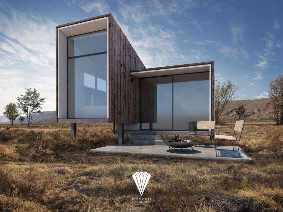 Rumah pasif oleh Diamante Arquitectura, Mediteran Parket Multicolored