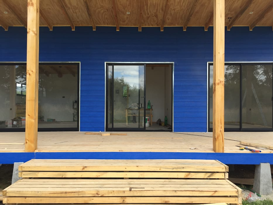 Cabaña Rio Calle Calle, Antilhue Constructora Crowdproject Casas estilo moderno: ideas, arquitectura e imágenes