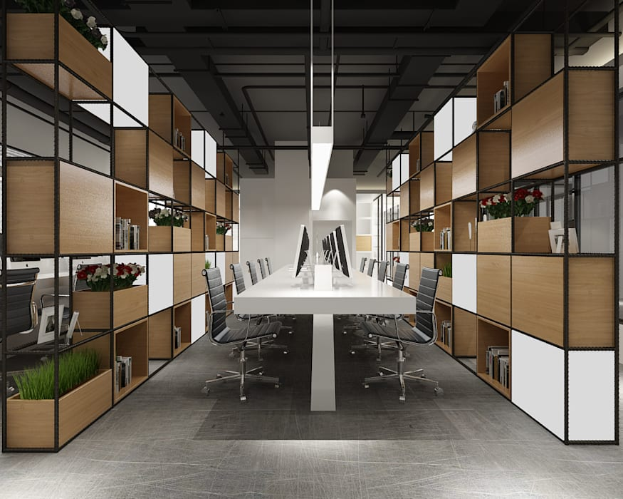 Co Working Space Design By Space Interface Industrial Homify