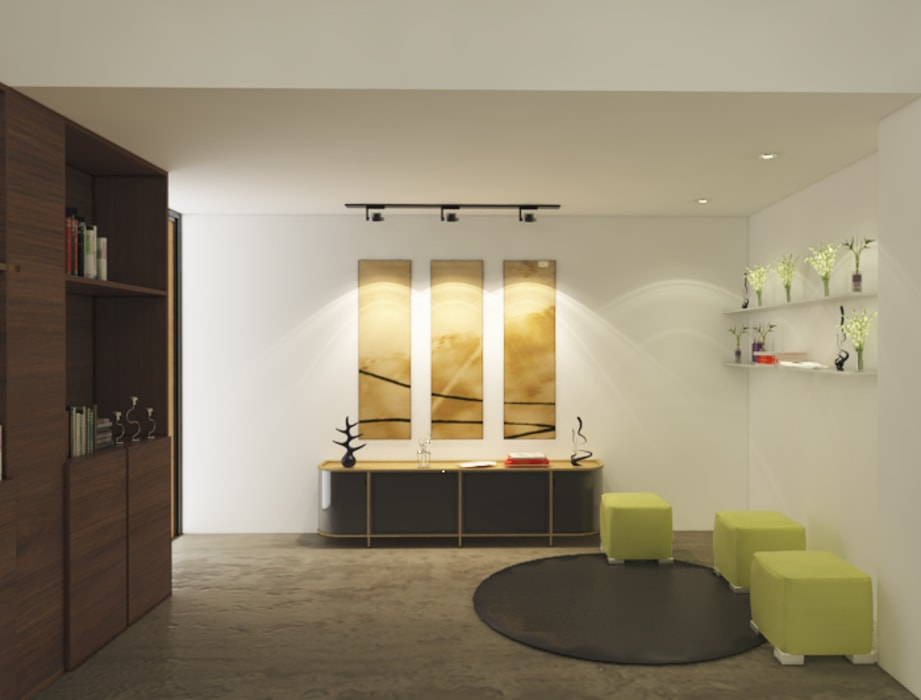 Dheeraj Residence, Meera Bagh, New Delhi Eclectic style study/office by Space Interface Eclectic