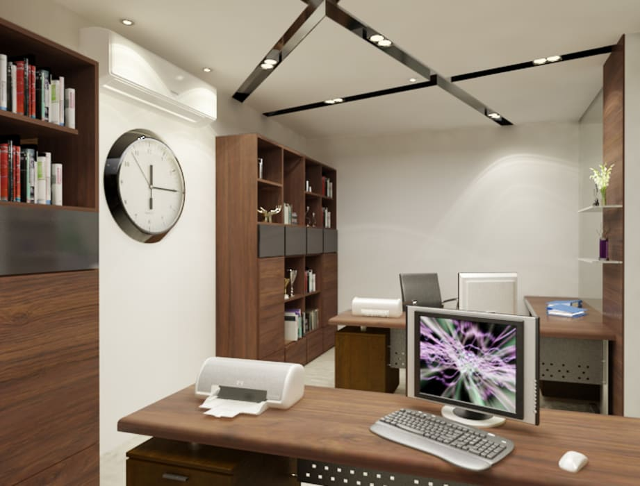 Dheeraj Residence, Meera Bagh, New Delhi:  Study/office by Space Interface,Eclectic