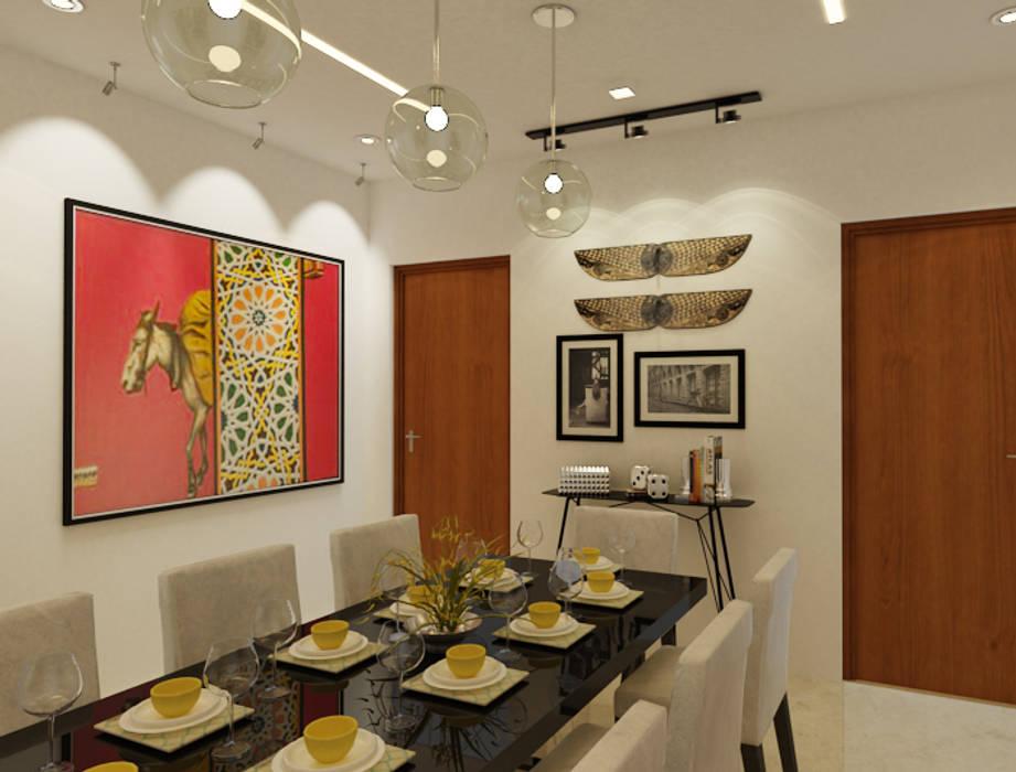 Kaushik Residence in Gurugram Modern dining room by Space Interface Modern
