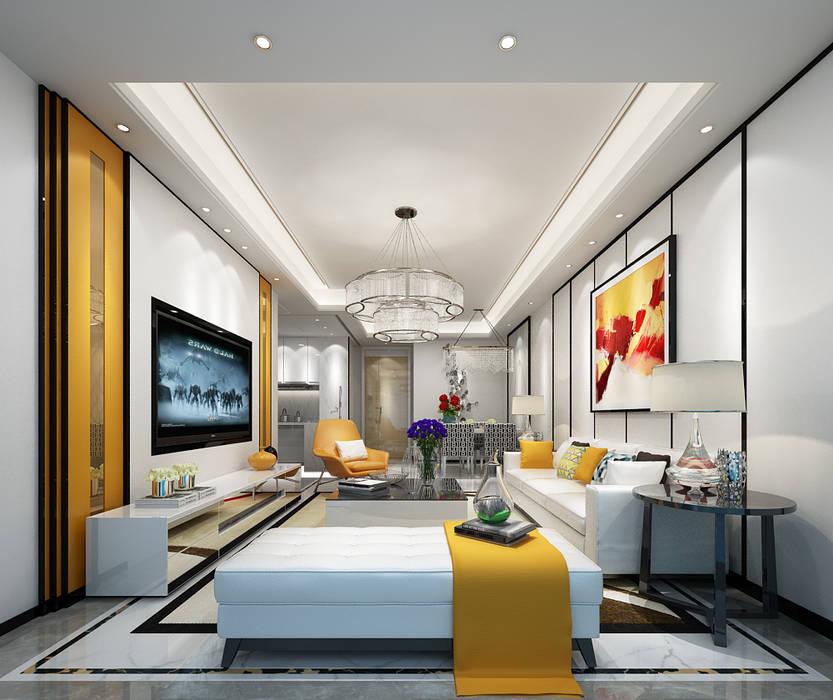 Salones de estilo moderno de Space Interface Moderno