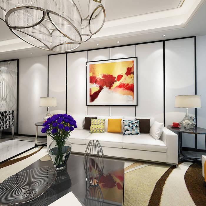Residence in Gurugram Space Interface Modern living room