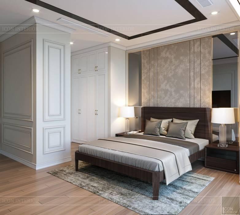 THIẾT KẾ TÂN CỔ ĐIỂN, CĂN HỘ PARK 5 - Nếu mỗi thiết kế là một bản nhạc...:  Phòng ngủ by ICON INTERIOR, Kinh điển