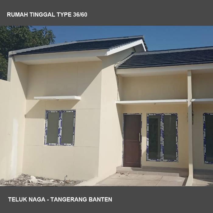 Teluk Naga: Rumah tinggal  oleh Studio Ardhyaksa, Minimalis Batu Bata