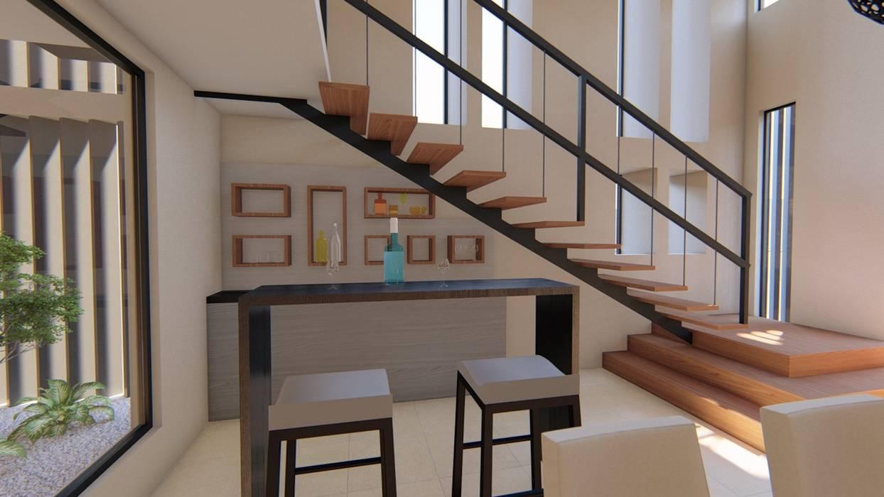 Casa Habitación - Galo Chávez Arquitectura AD Comedores modernos