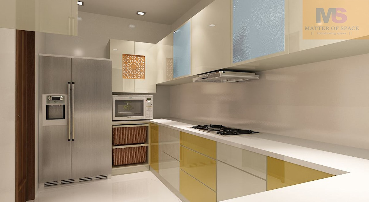 kitchen design by Matter Of Space Pvt. Ltd. Minimalist Wood-Plastic Composite