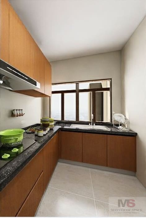 kitchen design 根據 Matter Of Space Pvt. Ltd. 簡約風 石器