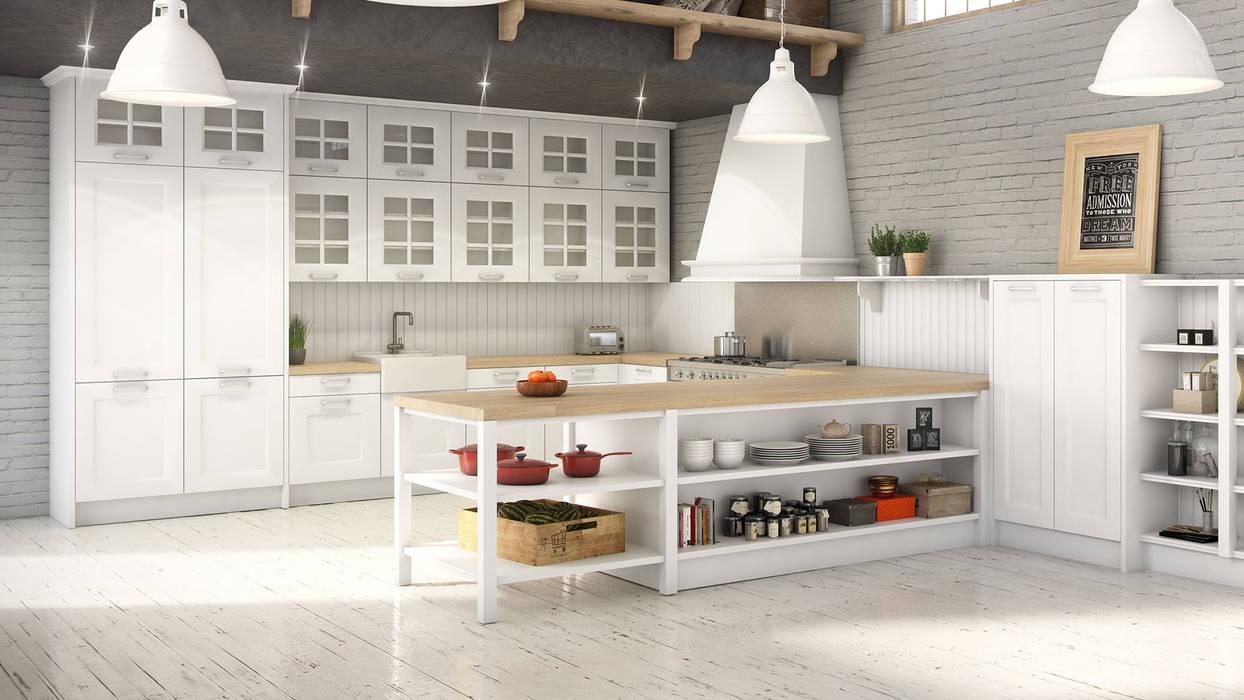 Renders 3d Mobiliario de Cocina: Cocinas de estilo  de Infografias 3D y Renders 3D Madrid, Mediterráneo