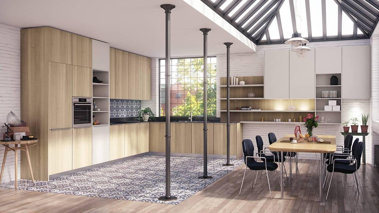 Infografias 3d Mobiliario: Cocinas de estilo  de Infografias 3D y Renders 3D Madrid, Mediterráneo