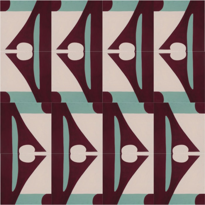 Cement tile with Abstract motif :  Floors by Karolyn Morovati, Modern Tiles