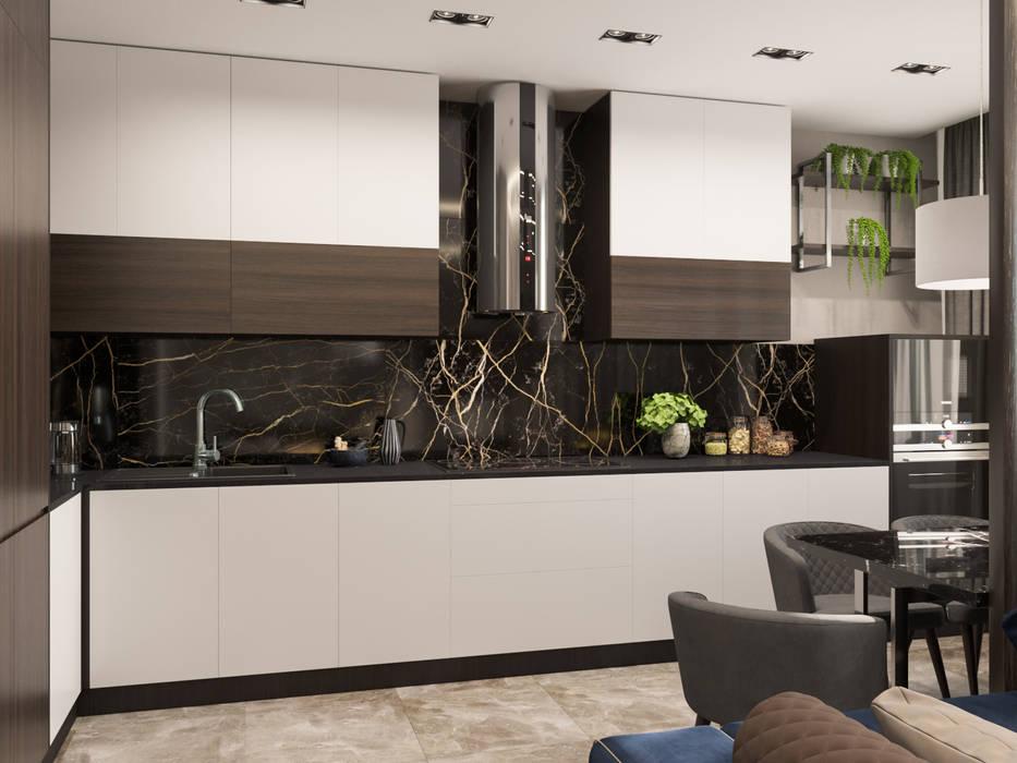 Дизайн-проект квартиры для молодого человека: Кухни в . Автор – Анастасия Свистович, Минимализм