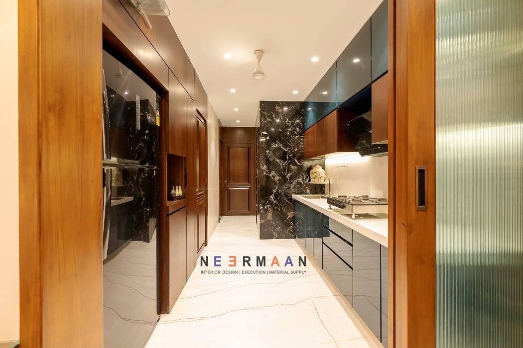 V JAIN, ARHAM TOWER:  Kitchen by NEERMAAN,Modern