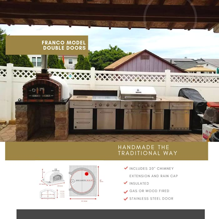 Dome Ovens - Brick ovens and accessories :  Garden by Dome Ovens®, Mediterranean