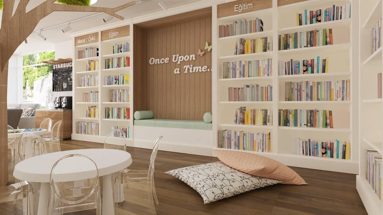 Rengin Mimarlık – Papillon Kids Çocuk Kitapevi Tasarımı:  tarz Çocuk Odası,