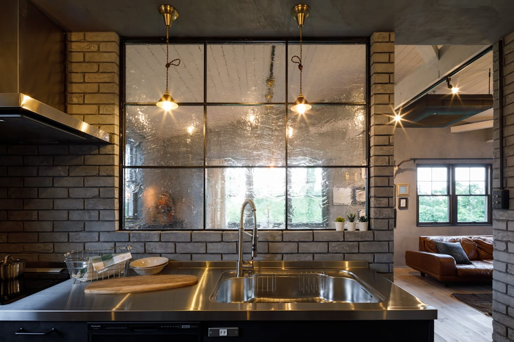 house-21 インダストリアルデザインの キッチン の dwarf インダストリアル