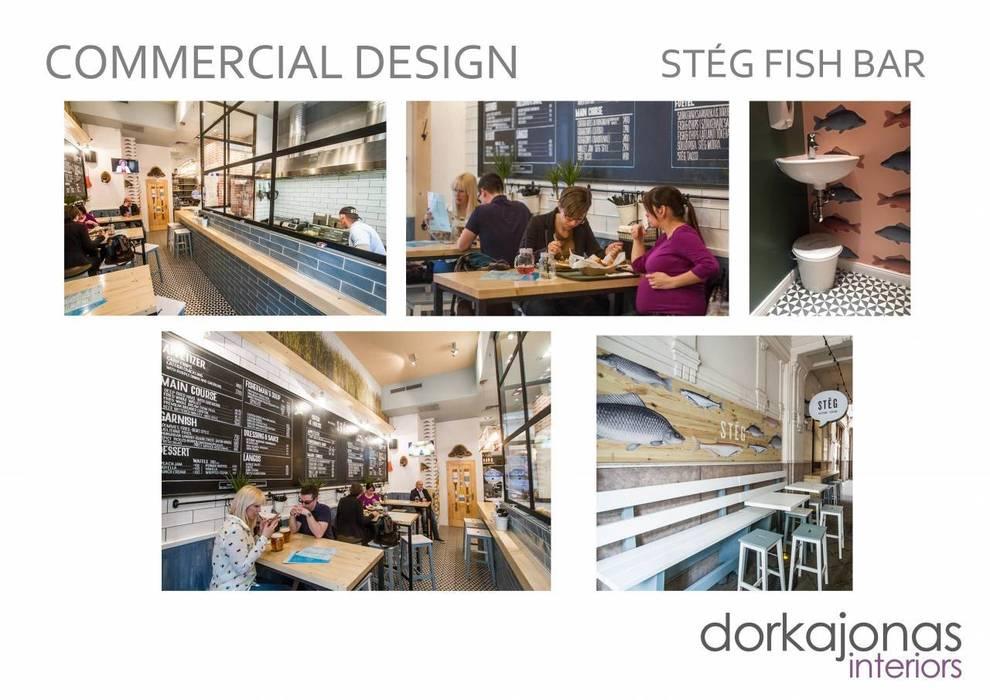 Restaurante de Dorka Jonas Interiors Ecléctico
