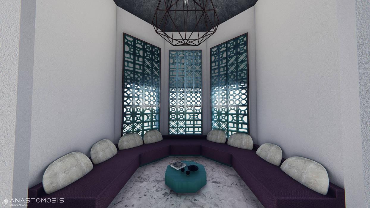 مجلس مغربي  Moroccan Lounge:  Living room تنفيذ Anastomosis Design Lab,