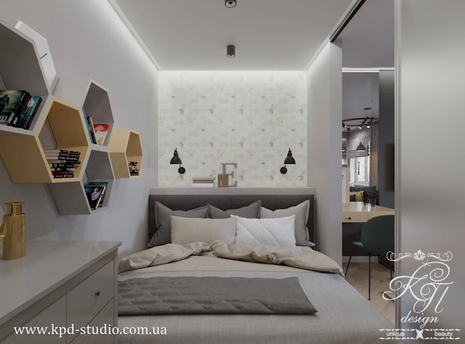Petites chambres de style  par Студия дизайна интерьера и архитектуры 'КПД, Scandinave