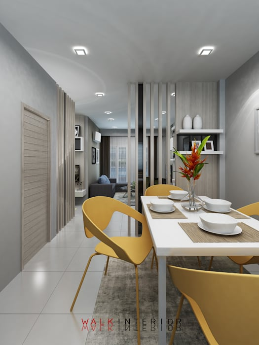 walkinterior Small houses Concrete White