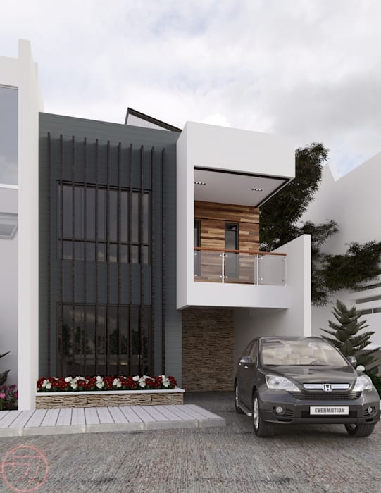 2-Storey Residential Kenchiku 2600 Architectural Design Services Single family home