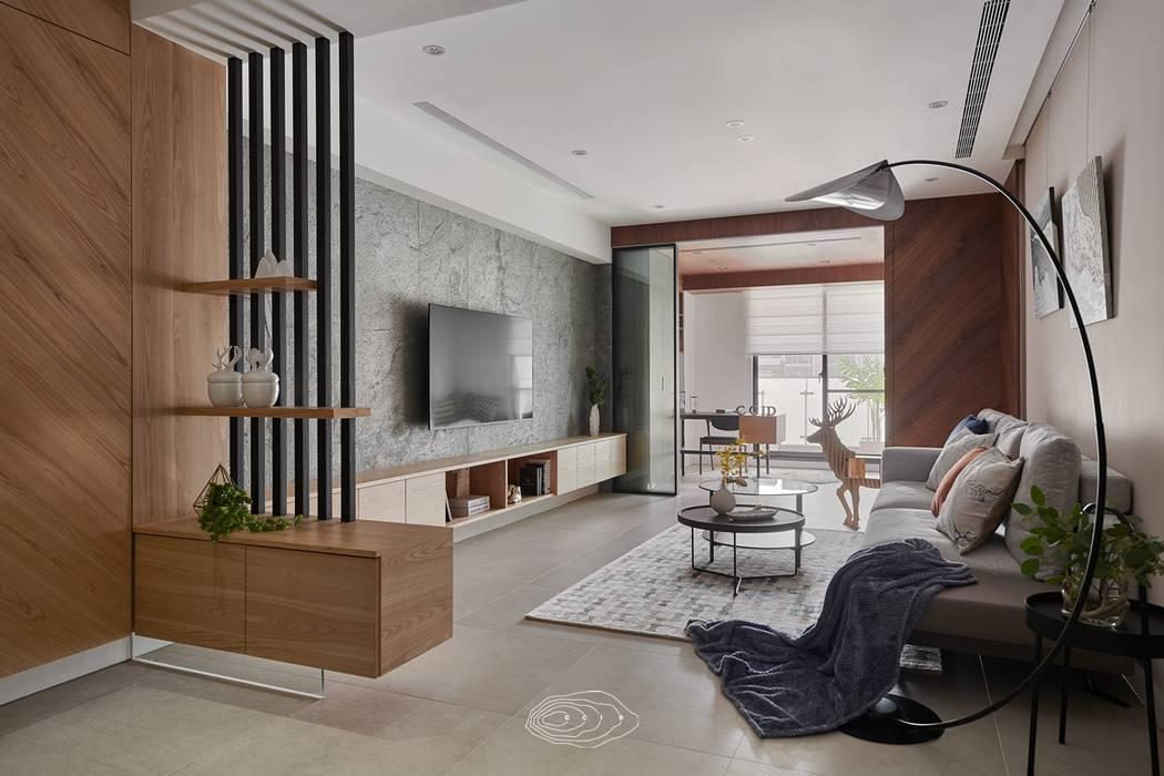 漫延‧悠然 現代風玄關、走廊與階梯 根據 層層室內裝修設計有限公司 現代風