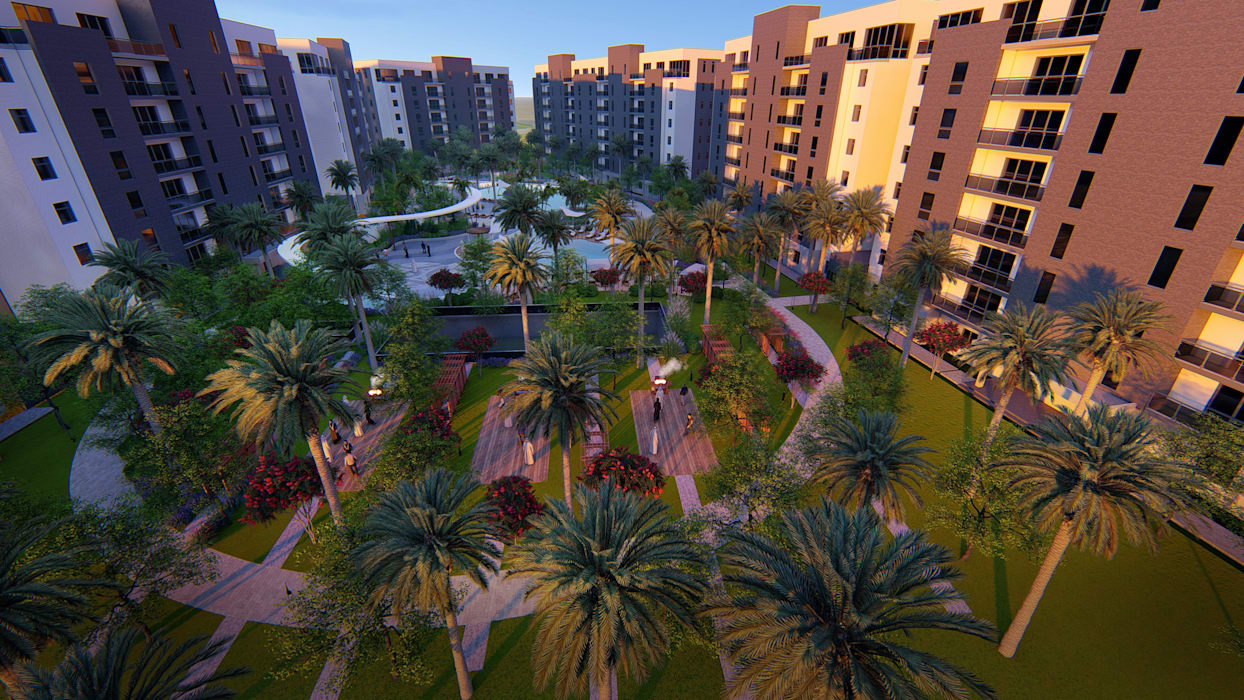 Sharjah Konut Peyzaj Projesi Orientalis Modern