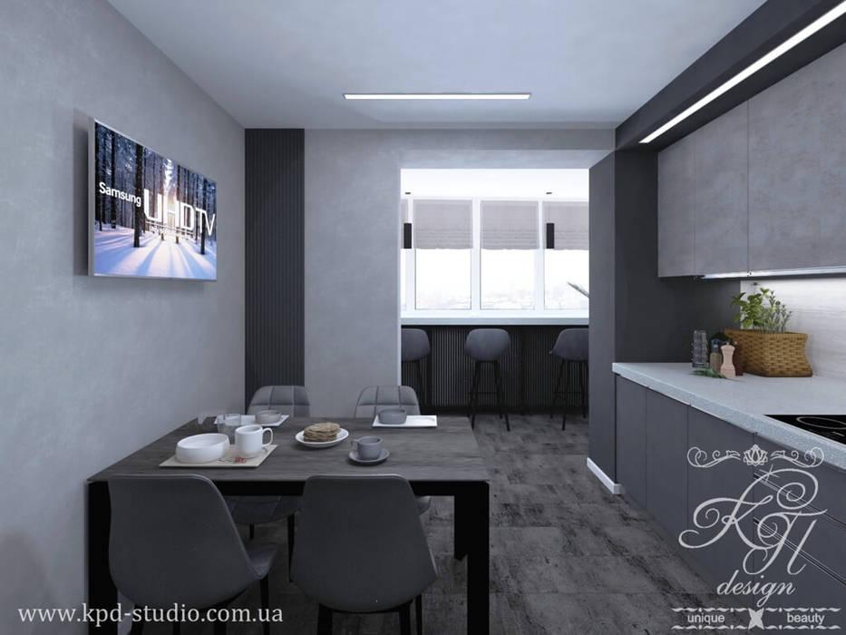 Muebles de cocinas de estilo  por Студия дизайна интерьера и архитектуры 'КПД, Ecléctico