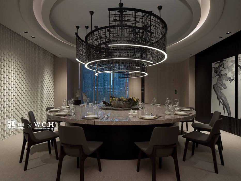 納川•藏鋒:  餐廳 by 森境室內裝修設計工程有限公司,